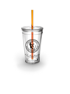VAN HOUTTE® TUMBLER WITH STRAW