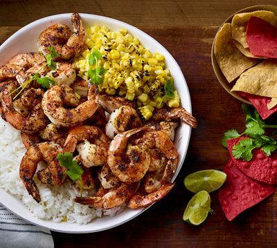 Mexican Grilled Shrimp and Coffee