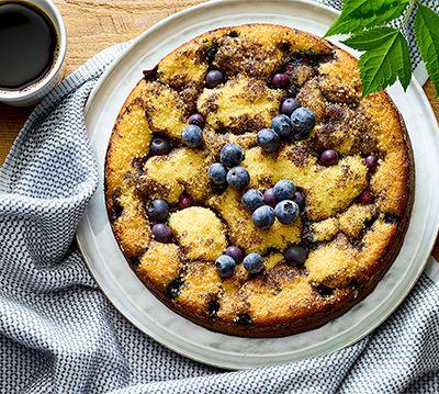 Gâteau au café et aux bleuets