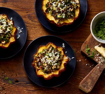 Wild Rice-Stuffed Acorn Squash
