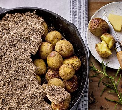 Coffee-Salt-Crusted Roast Potatoes