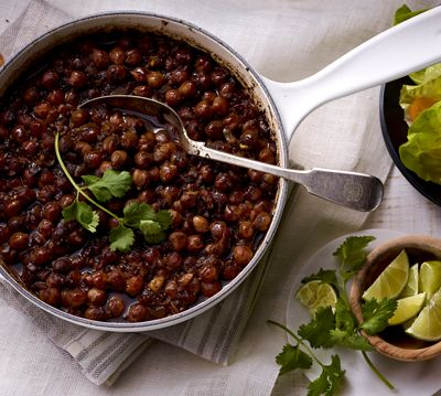Coffee-Braised Chickpeas